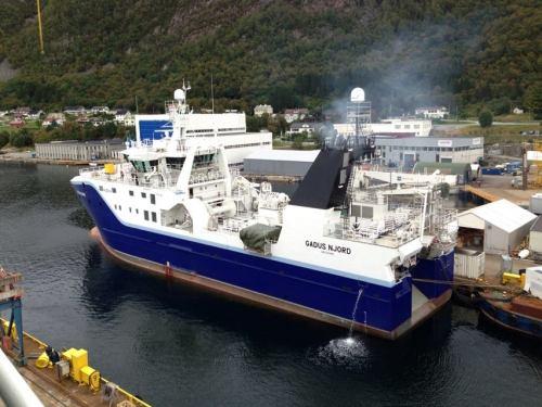 Barco de Pesca na Noruega - Gadus Njord - Foto: Rodrigo Cintra, em Sovika, Noruega