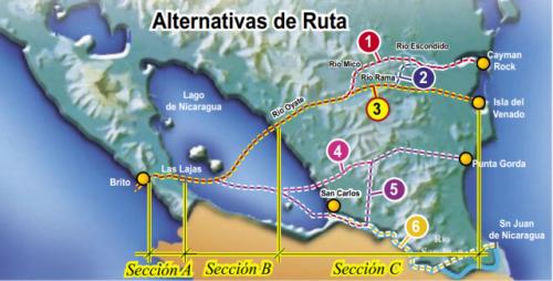 Alternativas de rota para o novo canal