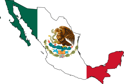 mexico-flag-map