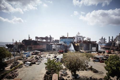 Instalações do Estaleiro Shree Ram, em Alang /Índia